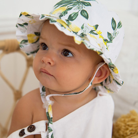 Image of Baby Girls Layla Bucket Hat – Cotton