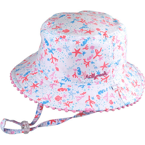 Image of Baby Girls Shoreline Sun Hat - Reversible