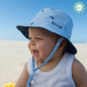 Image of Baby Boys Deep Sea Bucket Hat - Reversible