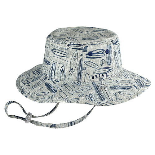 Boys Cotton Waverly Hat - Reversible