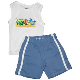 Baby Boys Set - Zoo Friends Blue