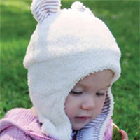 Baby Girls Bear Cub Winter Hat