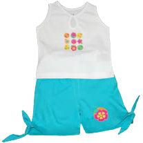 Baby Girls Retro Set - Aqua