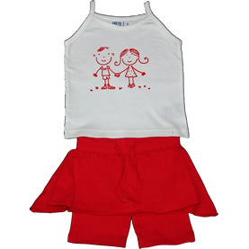 Baby Girls Tank & Skirt - Red