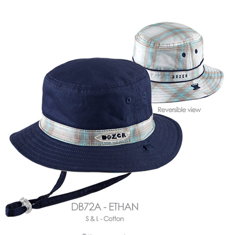 Image of Baby Boys Ethan Cotton Bucket Hat - Reversible