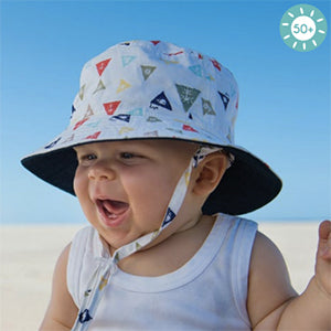 Baby Boys Ahoy Bucket Hat – Reversible