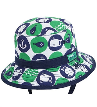 Image of Baby Boys Whaley Bucket Hat - Reversible