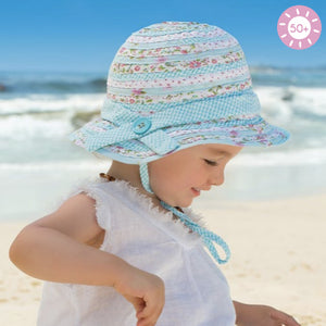 Baby Girls Patchwork Bucket Hat - Mint