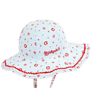 Baby Girls Rosie Posie Floppy Hat - Reversible