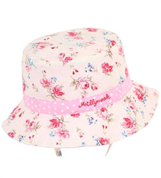 Image of Baby Girls Vintage Bucket Hat - Reversible
