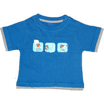 Boys Blue T Shirt - Teddy & Bunny
