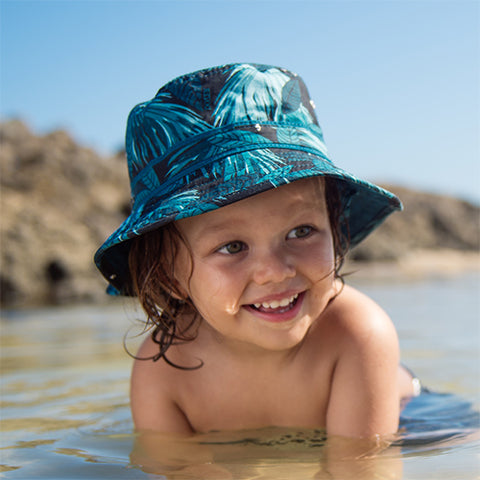 Boys Hideaway Cotton Bucket Hat - Reversible