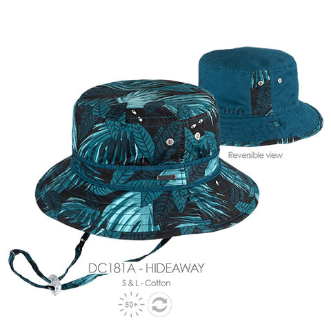 Image of Boys Hideaway Cotton Bucket Hat - Reversible
