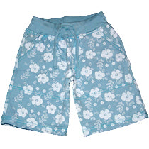 Boys Hibiscus Shorts - Blue