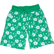 Boys Hibiscus Shorts - Green