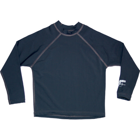 Image of Boys Long UPF50 Rashie - Slate Plain