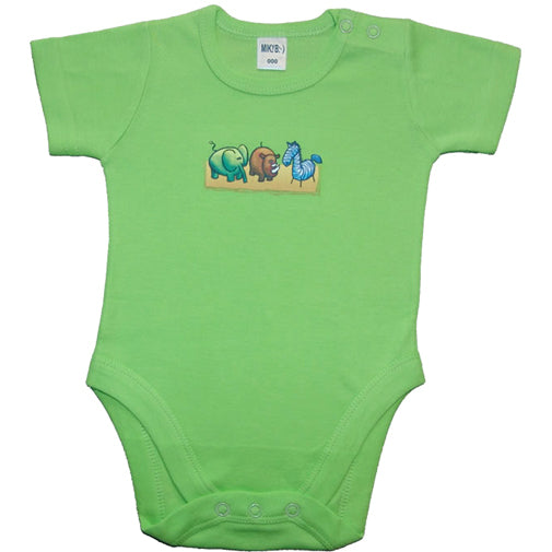 Boys Mix N Match Green - Zoo Animals