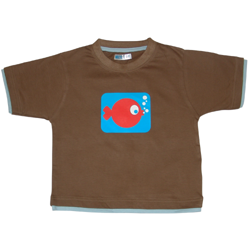 Boys Brown Tshirt Funky Fish