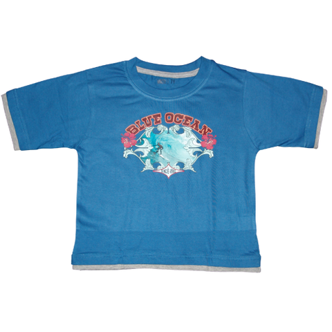 Boys Dark Blue Tshirt Surf