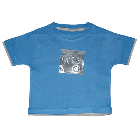 Boys Dark Blue Tshirt Bikes