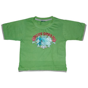Boys Green Tshirt Surfs UP