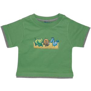 Boys Green Tshirt Zoo Animals