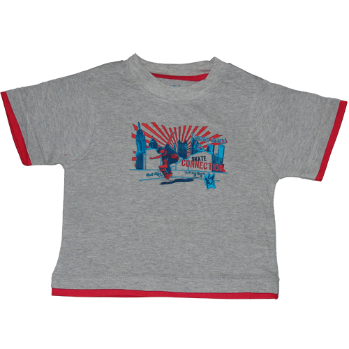 Boys Grey Tshirt Skate Connection