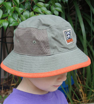 Baby Boys Pirate Bucket Hat - with chin strap