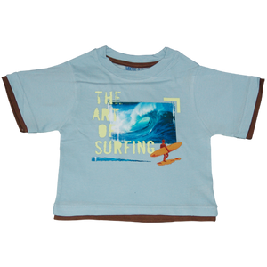 Boys Light Blue Tshirt Art of Surfing
