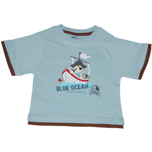 Boys Light Blue Tshirt Pirate