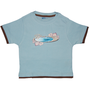 Boys Light Blue Tshirt Surfing