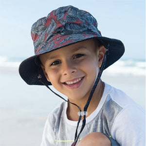 Image of Boys Cotton Parker Hat - Reversible
