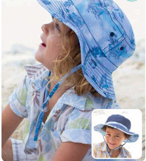 Boys Sebastian Floppy Hat -Reversible