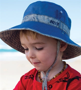 Image of Boys Cotton Waverly Hat - Reversible
