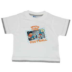 Boys White Tshirt Football