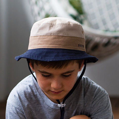Image of Boys Larz Bucket Hat - Reversible - Dozer