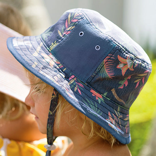 Boys Drake Bucket Hat - Reversible - Dozer