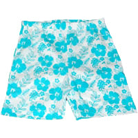 Girls Hibiscus Cotton Shorts – Aqua