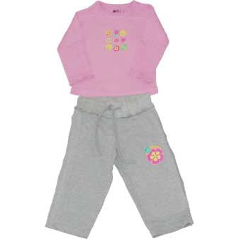 Girls Long Set - Retro Flowers