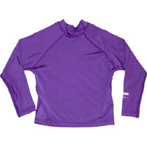 Girls Long UPF50 Rashie - Purple Plain