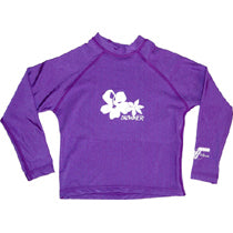 Girls Long UPF50 Rashie - Purple