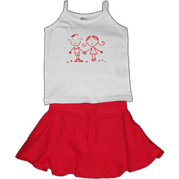 Girls Red- Tank & Skirt