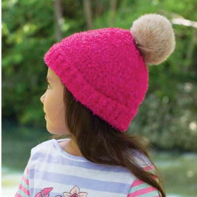 Girls Pink Ivy Beanie - Millymook