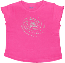 Girl Hot Pink Tshirt Spiral