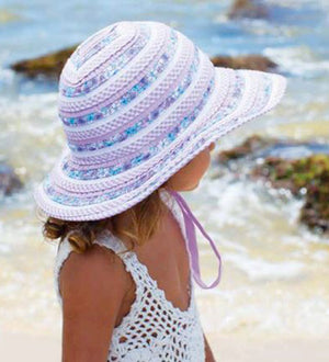 Girls Millymook Sweetheart Floppy Hat - Lilac
