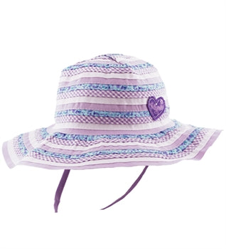 Image of Girls Millymook Sweetheart Floppy Hat - Lilac