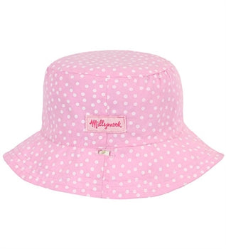 Image of Girls Vintage Cotton Bucket - Reversible