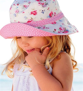 Girls Vintage Cotton Bucket - Reversible