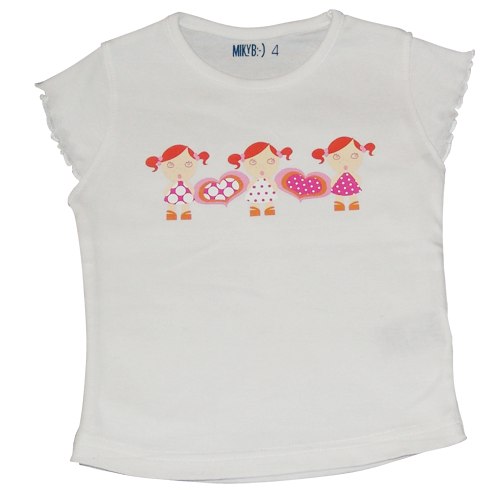 Girls White Tshirt 3Girls