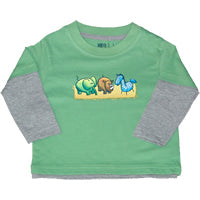 Green Long T - Zoo Animals